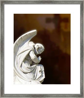 He Could Have Called 10000 Angels Framed Print