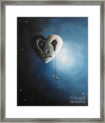 He Cried A Song For You Today By Shawna Erback Framed Print by Shawna Erback