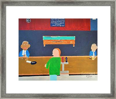 He Did It Framed Print by Dennis ONeil