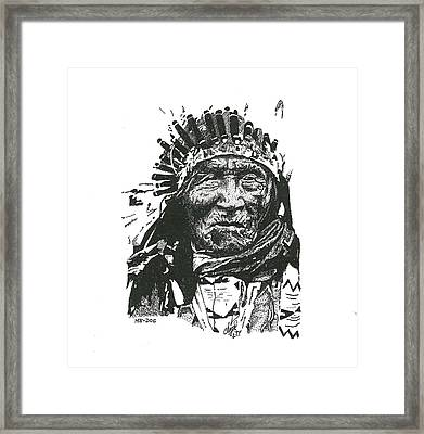 He Dog Framed Print by Clayton Cannaday