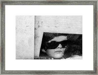 He Face Framed Print