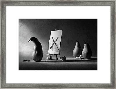 He Has A Painter's Block... Framed Print