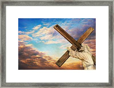 He Has Risen Framed Print by Darren Fisher