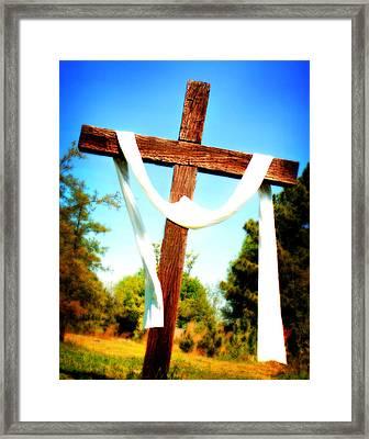 He Has Risen Framed Print