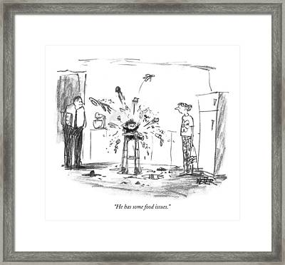 He Has Some Food Issues Framed Print by Robert Weber