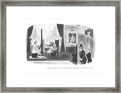 He Hasn't The Heart To Discharge Her. She's Framed Print by Richard Taylor