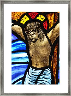 He Hung In There Framed Print by Karen Showell