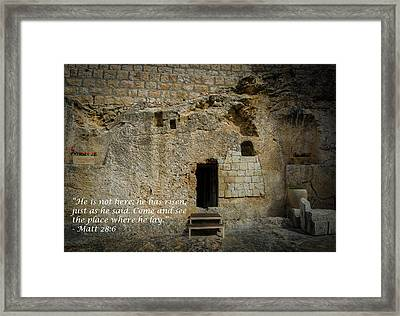 He Is Alive Framed Print by David Morefield