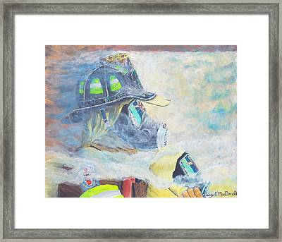 He Is At The Door Framed Print