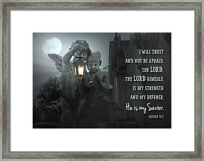 He Is My Savior Framed Print