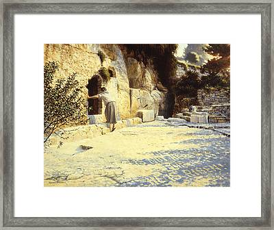 He Is Risen Framed Print by Graham Braddock
