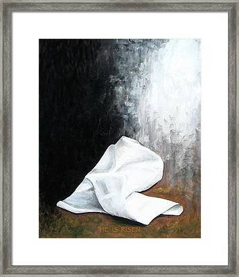 He Is Risen Framed Print by Kume Bryant