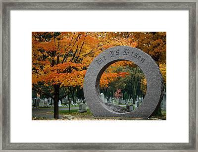 He Is Risen Framed Print by Mark Papke