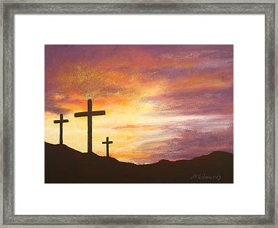 He Is Risen Framed Print by Marna Edwards Flavell