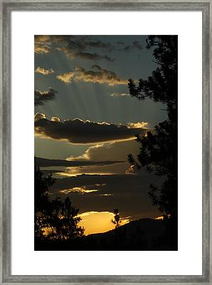 He Is Talking Framed Print