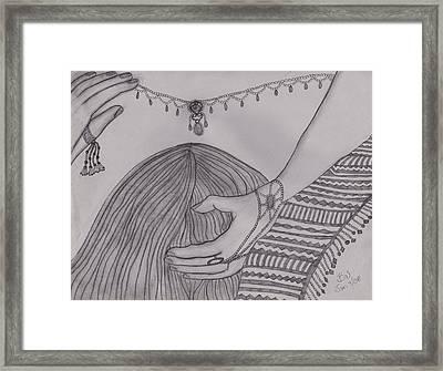 He Kissed Framed Print by Barbara St Jean