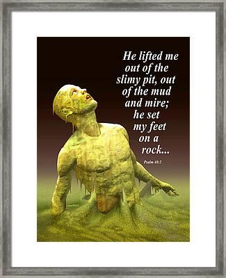 He Lifted Me Framed Print