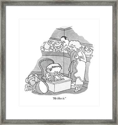 He Likes It Framed Print by Gahan Wilson