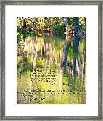 He Listens When We Speak Framed Print by David  Norman