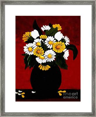 Framed Print featuring the painting He Loves Me... by Barbara Griffin
