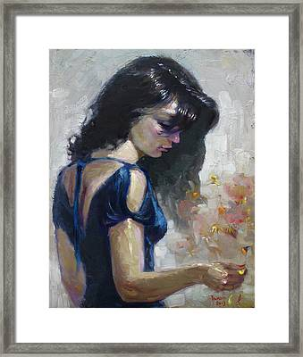 He Loves Me Framed Print by Ylli Haruni
