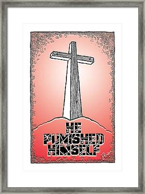 He Punished Himself Framed Print by Jerry Ruffin