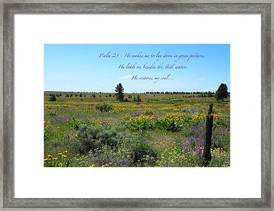 He Restores My Soul Framed Print by Lynn Hopwood