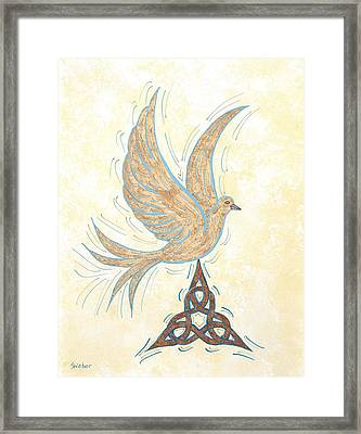 He Set Us Free Framed Print by Susie WEBER