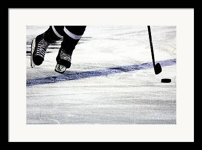 Hockey Player Framed Prints