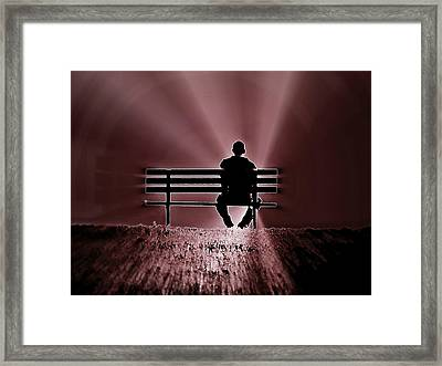 He Spoke Light Into The Darkness Framed Print by Micki Findlay