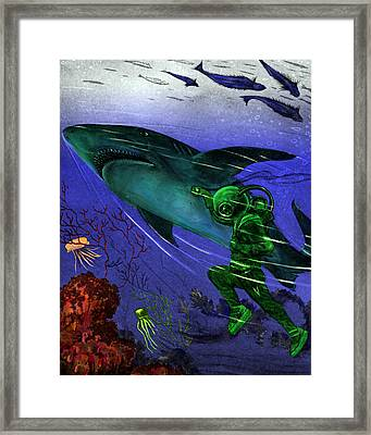 He Threw Himself Framed Print by Jason Edwards