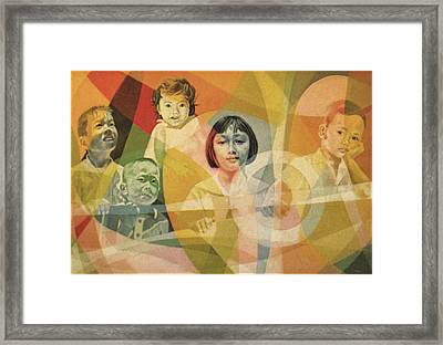 He Took Them In His Arms Framed Print by Glenn Bautista