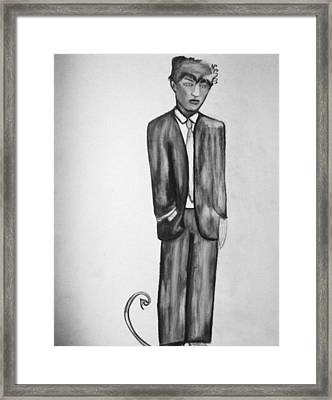 He Was A Thoughtful Devil Framed Print