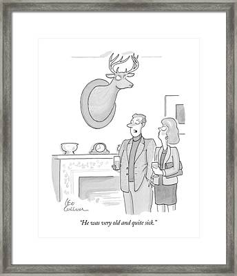He Was Very Old And Quite Sick Framed Print by Leo Cullum