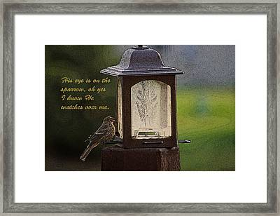 He Watches Over Me Framed Print by Barbara Dean