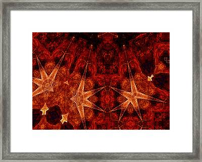 He Wears The Robe Of Stars Framed Print