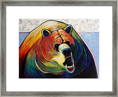 He Who Greets With Fire Framed Print by Joe  Triano