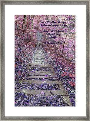 He Will Direct My Path Framed Print