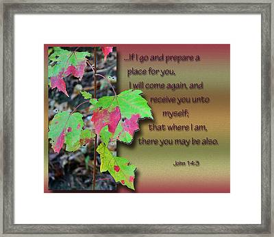 He Will Return Framed Print by Larry Bishop