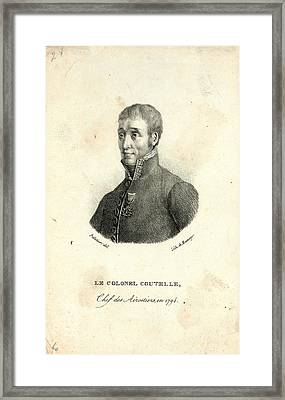 Head-and-shoulders Portrait Of Jean Marie Joseph Coutelle Framed Print by Litz Collection