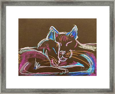 Head Bump Framed Print