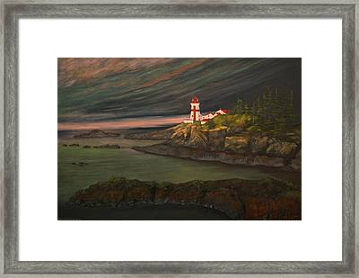 Head Harbour East Quoddy Light Framed Print by Alison Barrett Kent