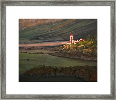 Head Harbour East Quoddy Light Close Crop Framed Print by Alison Barrett Kent