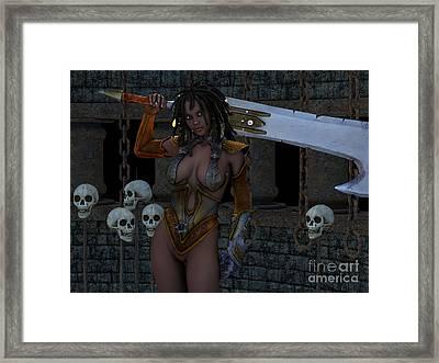 Head Hunter Framed Print