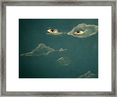 Head In The Clouds Framed Print by Corina Bishop