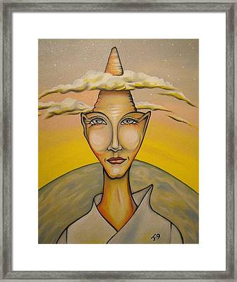 Head In The Clouds Framed Print by Janine Cooper Ayres