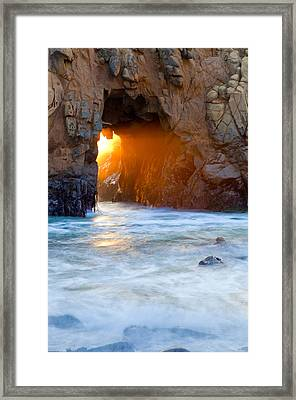 Head Light Framed Print