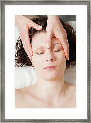 Head Massage Framed Print