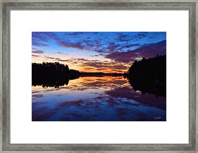 Head O Lakes Framed Print