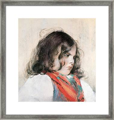Head Of A Child  Framed Print by Mary Stevenson Cassatt